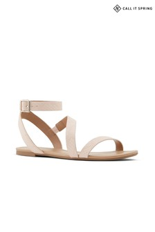 Call It Spring Ladies Flat Suede Sandals