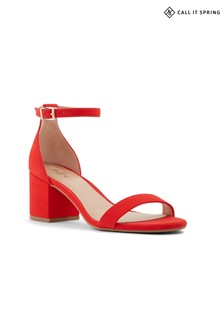 Call It Spring Ladies Heeled Suede Sandals