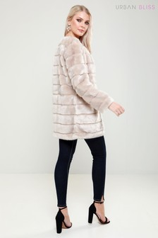 Urban Bliss Faux Fur Collarless Coat