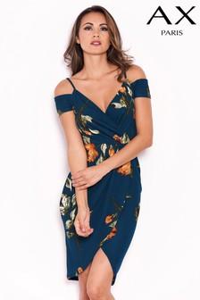שמלה בהדפס פרחוני של AX Paris