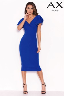 AX Paris Front Knot Frill Sleeve Bodycon Dress
