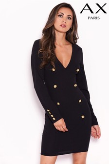 AX Paris Button Front Bodycon Dress