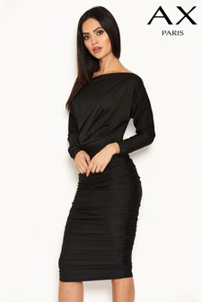 AX Paris Ruched Off Shoulder Dress