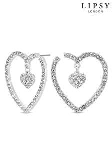 Lipsy Heart Hoop Charm Earring
