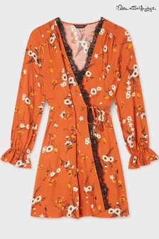 Miss Selfridge Cinnamon Floral Wrap Dress