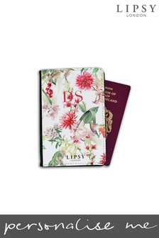 Personalised Lipsy Amy Floral Print Passport Cover By Koko Blossom