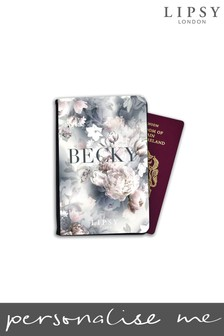 Personalised Lipsy Ava Floral Print Passport Cover By Koko Blossom