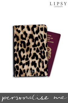 Personalised Lipsy Leopard Print Passport Cover By Koko Blossom