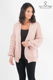 Want That Trend Quilted Sleeve Cardigan