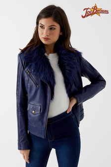 Joe Browns Navy Leather Jacket