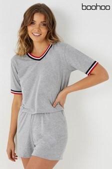 Boohoo Short Sleeve Shorts PJ Set