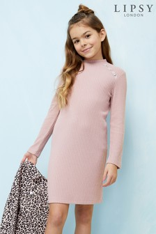 Lipsy Girl Ribbed Dress