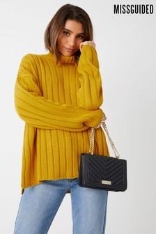 Missguided Knitted Roll Neck Jumper