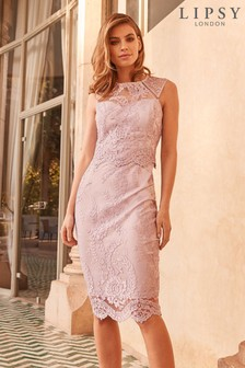 134a7390773 Pink · Silver. Lipsy VIP Sequin Lace Midi Dress