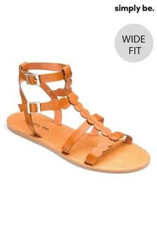 Simply Be Wide Fit Gladiator Sandals