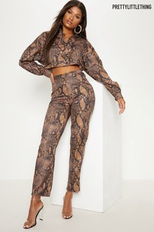 PrettyLittleThing Snake Print Trousers