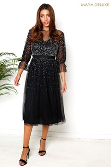 Maya Sequin Midi Dress
