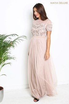 Maya Embroidered Maxi Dress