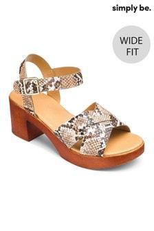 Simply Be Sandalen mit überkreuzten Riemen und weiter Passform