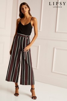 Lipsy Stripe D Ring Culotte Jumpsuit