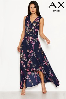 AX Paris Floral Dip Hem Maxi Dress