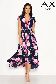 AX Paris Floral Dip Hem Midi Dress
