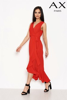 AX Paris Wrap Frill Midi Dress
