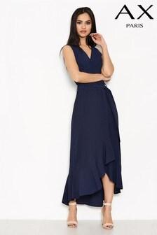 שמלת מידי בגזרת מעטפת עם מלמלה של AX Paris