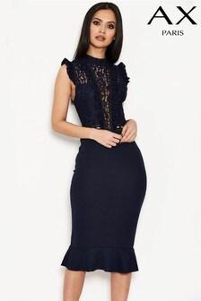 Платье с рюшами AX Paris