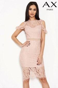 Кружевное платье с открытыми плечами AX Paris
