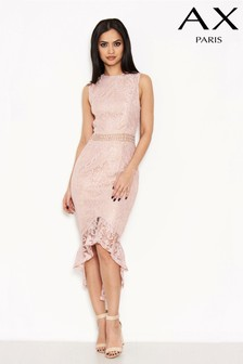ba9ad3830a3 AX Paris Lace Dip Hem Dress