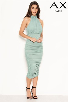 AX Paris High Neck Ruched Dress