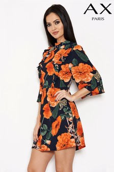AX Paris Floral Frill Front Day Dress