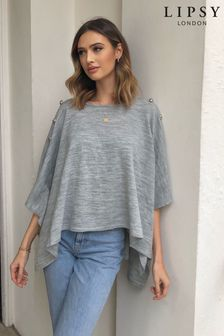 Lipsy Button Front Poncho