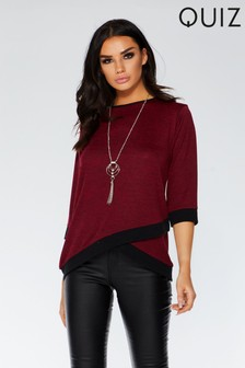 Quiz 3/4 Sleeve Top