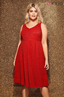 Yours Curve Sparkle Jersey Dress