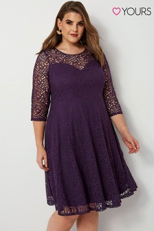 Yours Lace Skater Dress