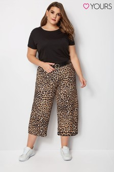 Yours Leopard Liverpool Culottes