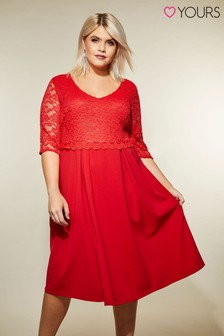 Yours Overlay Lace Dress