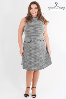Want That Trend Curve Jacquard Dress