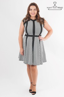 Want that Trend Curve Knitted Skater Dress