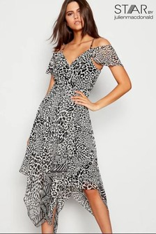 Star By Julien Macdonald Leopard Print Cold Shoulder Dress