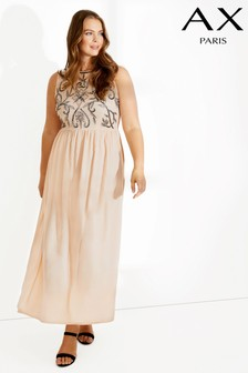 AX Paris Curve Front Detail Maxi Dress