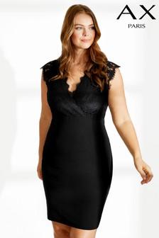 שמלת מעטפת עם תחרה של AX Paris Curve