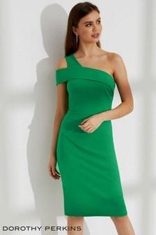 Dopasowana sukienka z odsłoniętym ramieniem Dorothy Perkins