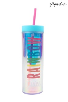 Paperchase Rainbow Slogan Cup And Straw
