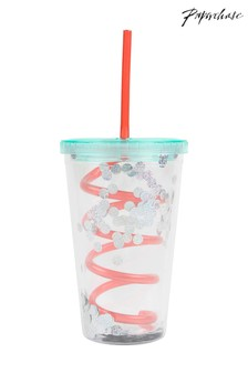 Paperchase Sequin Straw Cup