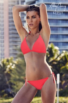 Abbey Clancy x Lipsy Neon Hardware Bikini Top
