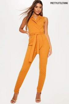 PrettyLittleThing Wrap Front Belted Jumpsuit