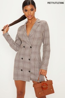PrettyLittleThing Double Breasted Blazer Dress